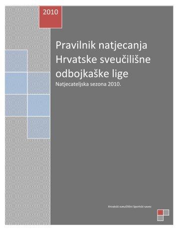 Izvršni odbor HNS-a je temeljem članka 36 - Zagrebački Sveučilišni ...
