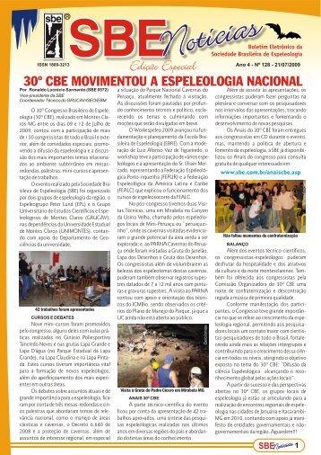 Edição Especial - Sociedade Brasileira de Espeleologia
