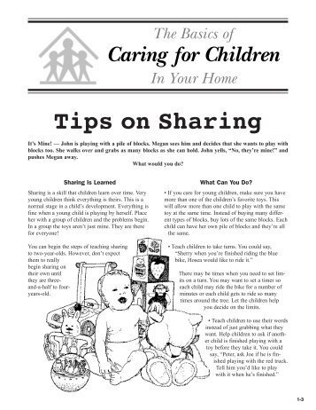 Tips on Sharing - Better Kid Care