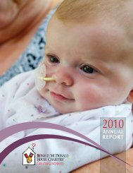 2010 Annual Report - Ronald McDonald House Charities of Greater ...