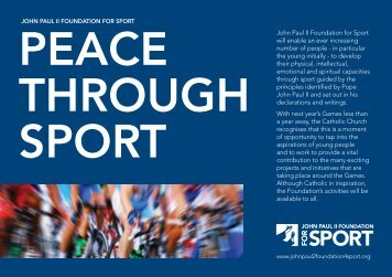 JP2F4S Leaflet Download - John Paul II Foundation for Sport
