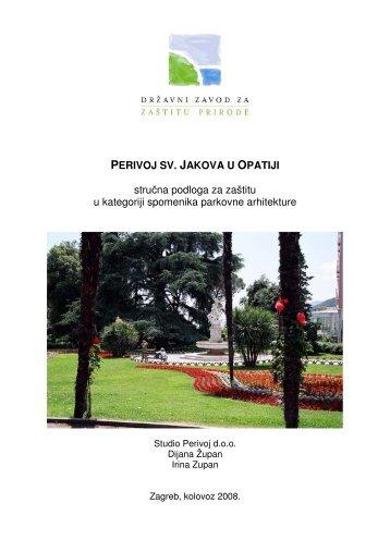 stručna podloga za zaštitu u kategoriji spomenika ... - Priroda