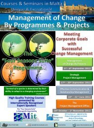 Management of Change By Programmes & Projects - Mitconsultants ...