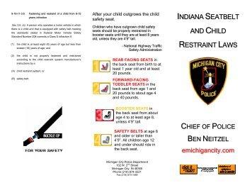 Indiana Seat Belt Law Exemptions Image Of Belt