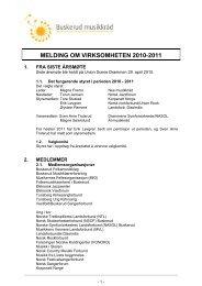 MELDING OM VIRKSOMHETEN 2010-2011 - Norsk musikkråd