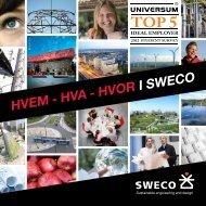 Hvem hva hvor i Sweco brosjyre
