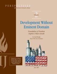Development Without Eminent Domain - The Castle Coalition