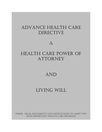 ADVANCE HEALTH CARE DIRECTIVE A ... - St. Clair Hospital