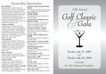 Golf Classic - St. Clair Hospital