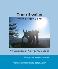 Transitioning from Foster Care (PDF) - Transitions and Social Change