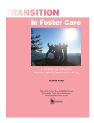 Transitioning from Foster Care - Transitions and Social Change