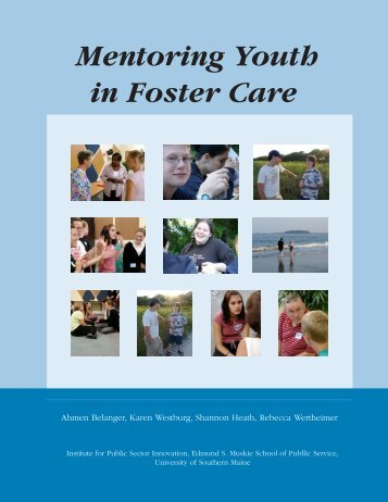 Mentoring Youth in Foster Care (PDF) - Transitions and Social Change