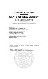 new eminent domain reform legislation - New Jersey Eminent ...