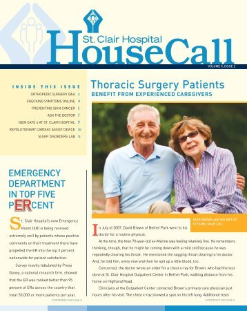 Thoracic Surgery Patients - St. Clair Hospital