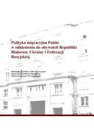 Polityka migracyjna Polski w odniesieniu do obywateli Republiki ...
