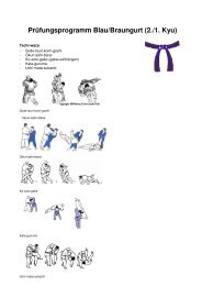 Prüfungsprogramm Blau/Braungurt (2./1. Kyu)
