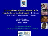 La transformation artisanale de la viande de porc à Rodrigues ...