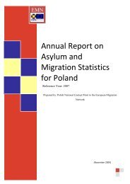 Annual Report on Asylum and Migration Statistics for Poland
