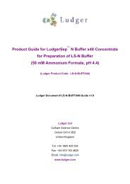 Product Guide for LudgerSep N Buffer x40 Concentrate ... - Ludger Ltd.