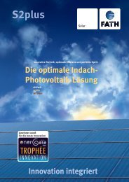 Innovation integriert Die optimale Indach ... - MANAGESS Energy