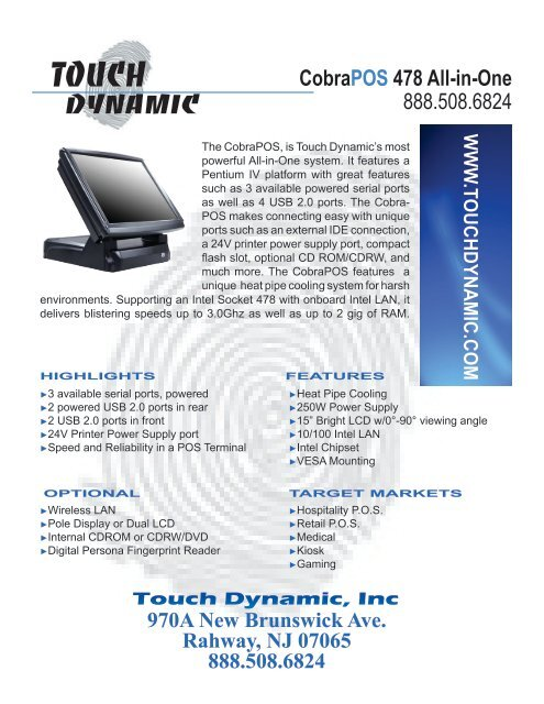 CobraPOS 478 All-in-One - Touch Dynamic
