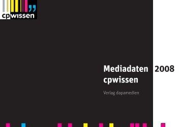 Mediadaten 2008 cpwissen