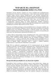 Wsparcie dla rozwoju przedsiębiorczości na wsi (pdf 65 kB)