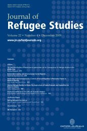 Front Matter (PDF) - Journal of Refugee Studies