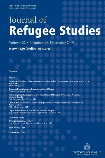 Front Matter (PDF) - Journal of Refugee Studies