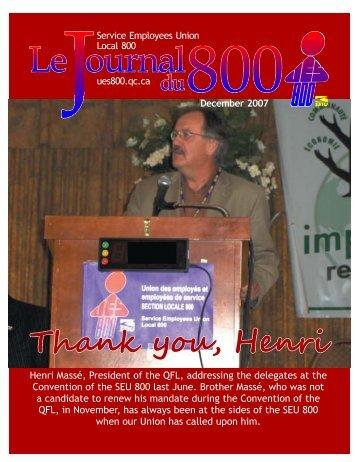 December 2007 - Union des employés et employées de service ...