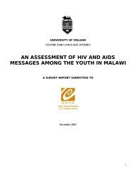 an assessment of hiv and aids messages among the youth in malawi