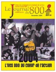 novembre 2004 - Union des employés et employées de service ...