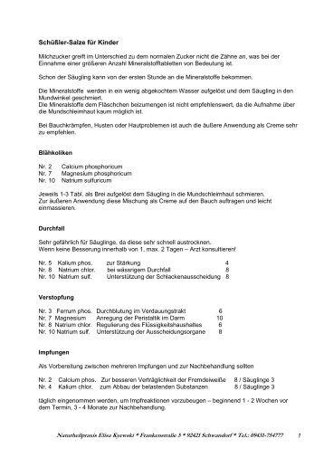 Schüßler-Salze und Kinder - map-pfister.de