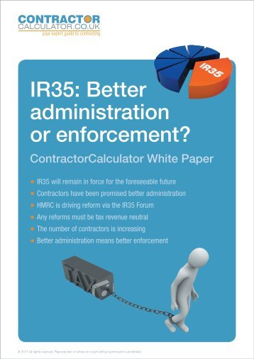 IR35: Better administration or enforcement? - Contractor Calculator