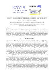 Ocean Acoustic Interferometry Experiment - the Marine Physical ...
