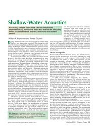 Shallow-Water Acoustics - the Marine Physical Laboratory
