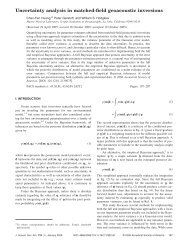 Uncertainty analysis in matched-field geoacoustic inversions