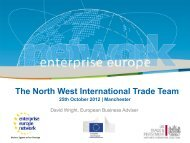 Support for clients involved in international trade, David Wright