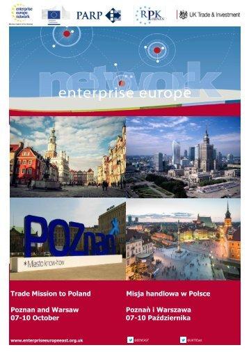 Trade Mission to Poland Misja handlowa w Polsce Poznan and ...