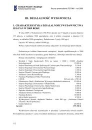 III. DZIAŁALNOŚĆ WYDAWNICZA - Instytut Filozofii i Socjologii PAN