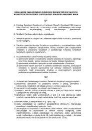 regulamin [pdf] - Instytut Filozofii i Socjologii PAN