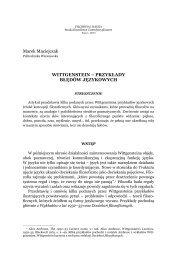 PRZYKŁADY BŁĘDÓW JĘZYKOWYCH - Filozofia i Nauka