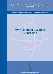 WYNIKI BADANIA 2006 w POLSCE - Instytut Filozofii i Socjologii PAN