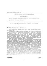 The Gödel incompleteness phenomenon