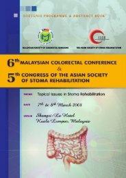 symposium 1 - Malaysian Society of Colorectal Surgeons