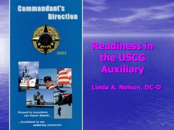 Readiness in the USCG Auxiliary Readiness in the USCG Auxiliary