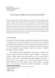 Teoria znaczenia Ajdukiewicza i teoria prawdy Tarskiego