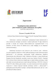 Zaproszenie - Instytut Filozofii i Socjologii PAN