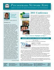 Spring Summer 2011 - American Society of Group Psychotherapy ...
