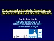 Ernährungsphysiologische Bedeutung und präventive Wirkung von ...